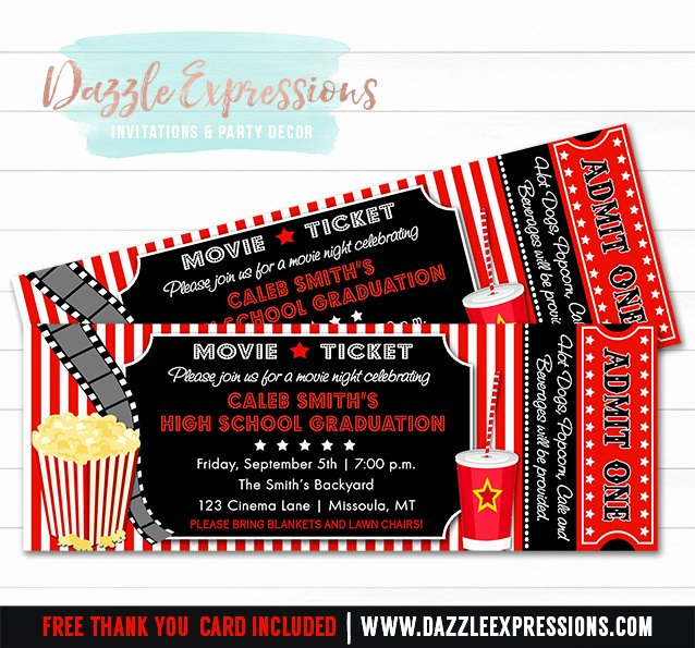 Free Printable Movie Tickets Invitation – orderecigsjuicefo