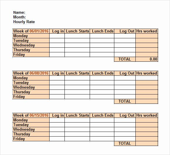 Free Printable Multiple Employee Time Sheets Printable Pages