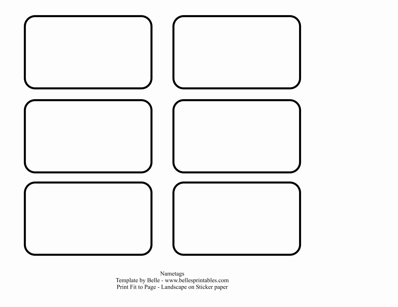 Free Printable Name Tags Template