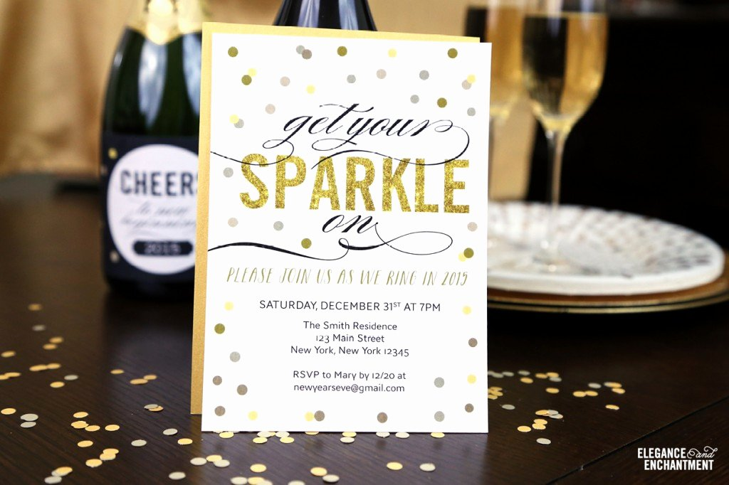 Free Printable New Year S Eve Party Invitation