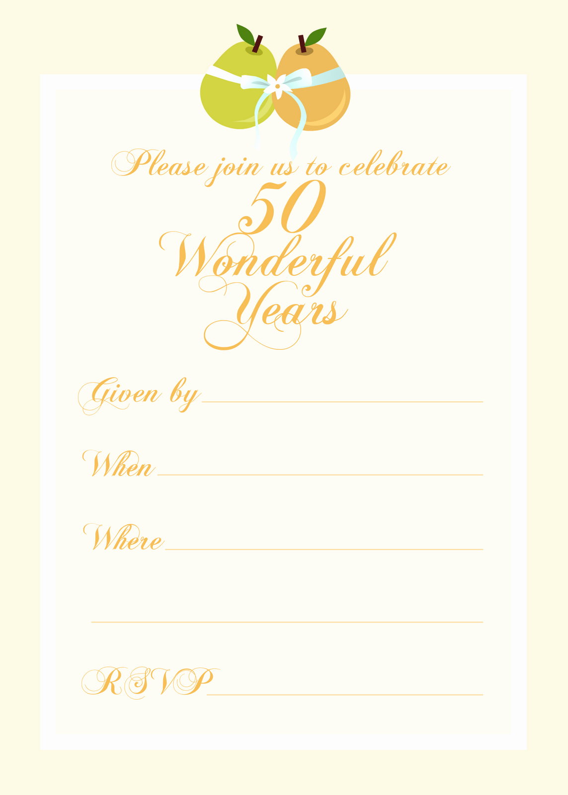 Free Printable Party Invitations Free 50th Wedding