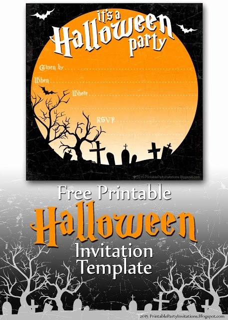 Free Printable Party Invitations Spooky Graveyard