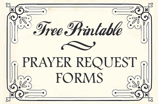Free Printable Prayer Request forms Time Warp Wife