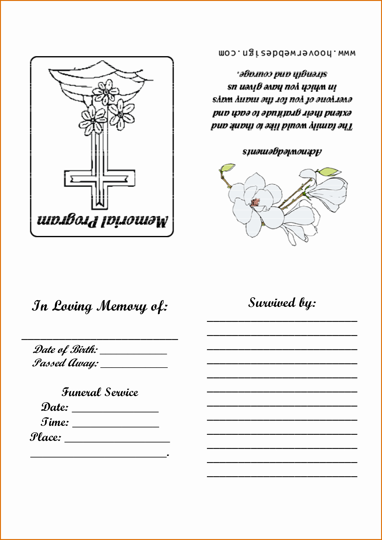 Free Printable Program Templates