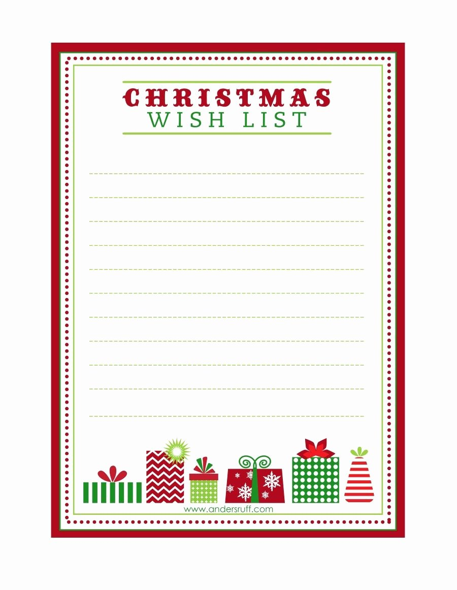 "Free Printable ""letter to Santa"" ""christmas Wish List"