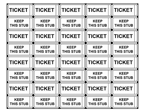 Free Printable Raffle Ticket Templates Blank