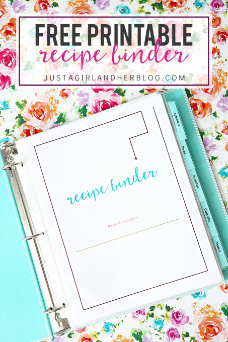 Free Printable Recipe Cards Just A Girl and Her Blog