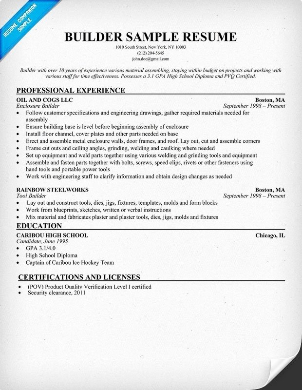Free Printable Resume Builder 2017