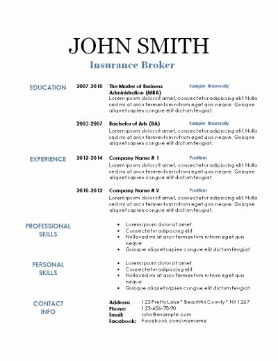 Free Printable Resume Templates Printable Resume Template
