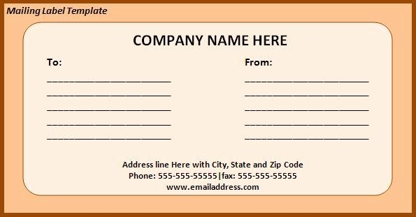 Free Printable Return & Mailing Address Label Template