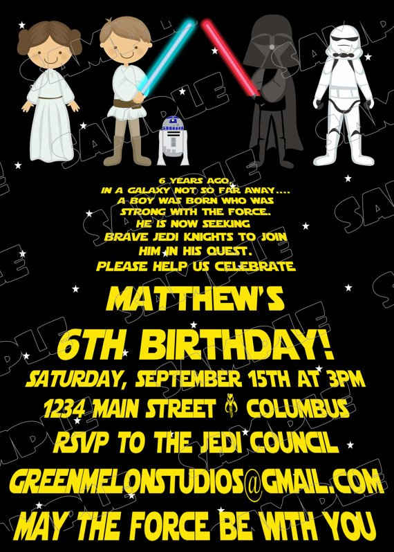Free Printable Star Wars Birthday Invitations