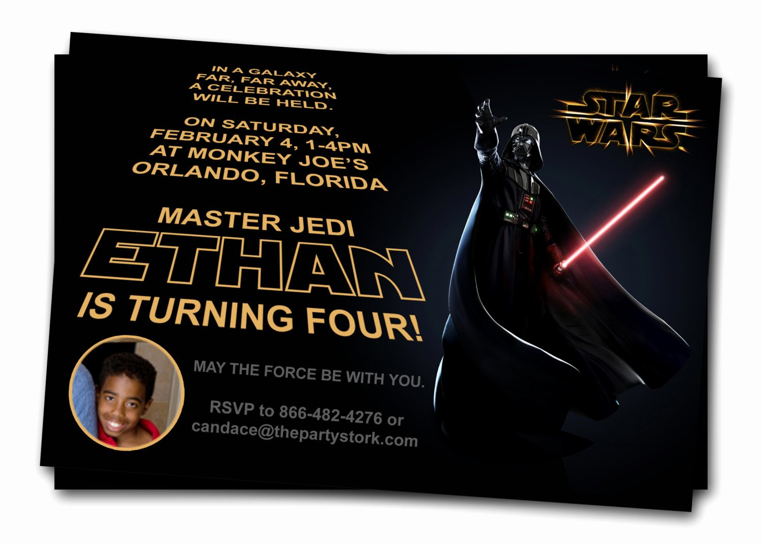 Free Printable Star Wars Birthday Invitations – Template