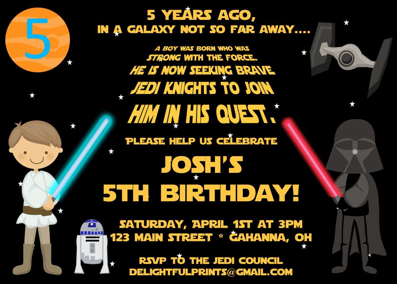 Free Printable Star Wars Birthday Party Invitations