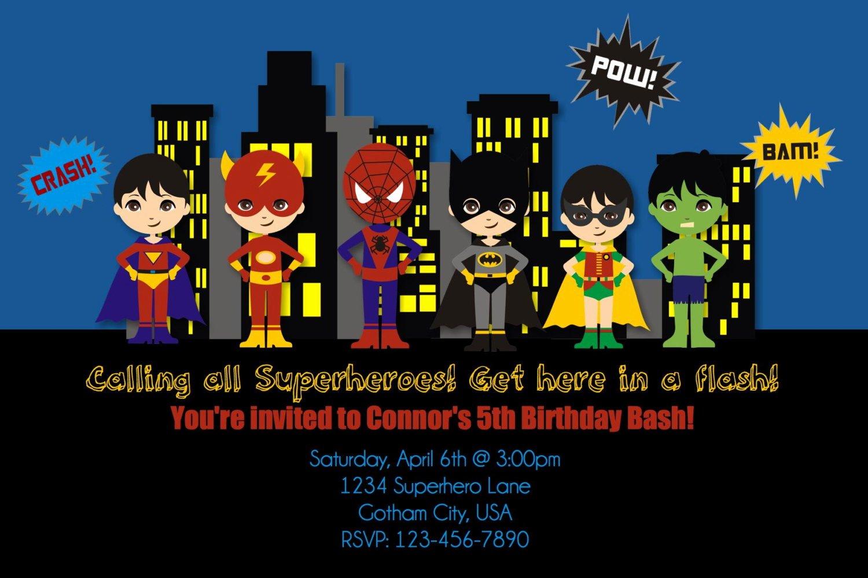 Free Printable Superhero Birthday Invitations – Bagvania