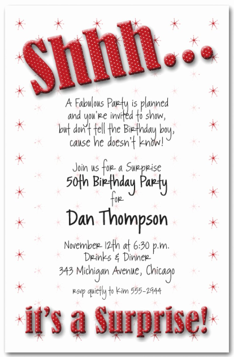 Free Printable Surprise 50th Birthday Invitation