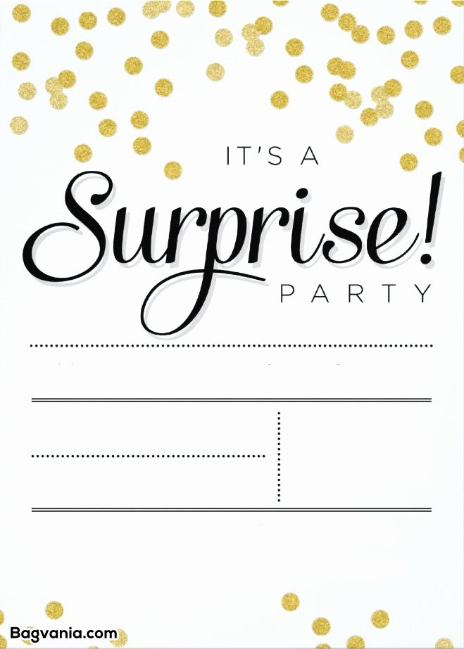 Free Printable Surprise Birthday Invitations – Free