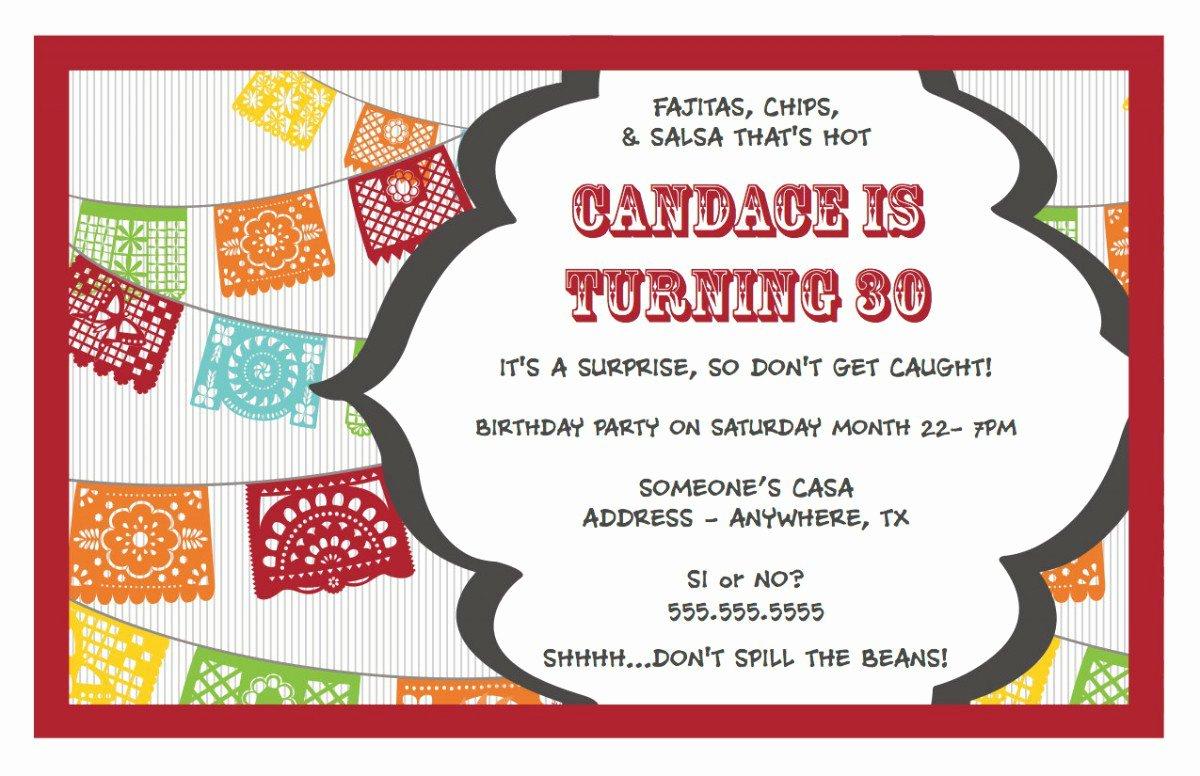 Free Printable Surprise Birthday Invitations Template