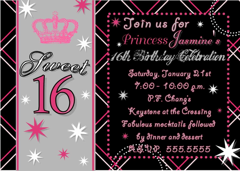 Free Printable Sweet 16 Party Invitation – orderecigsjuice