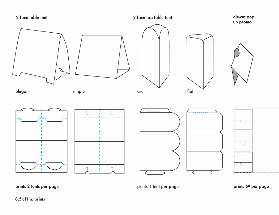 Free Printable Table Number Tent Cards