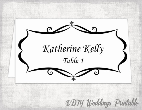 Free Printable Table Tent Cards