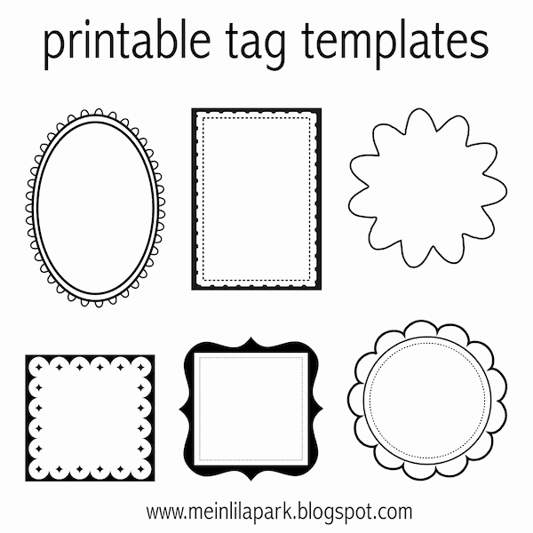 Free Printable Tag Templates for Diy Tags Ausdruckbare