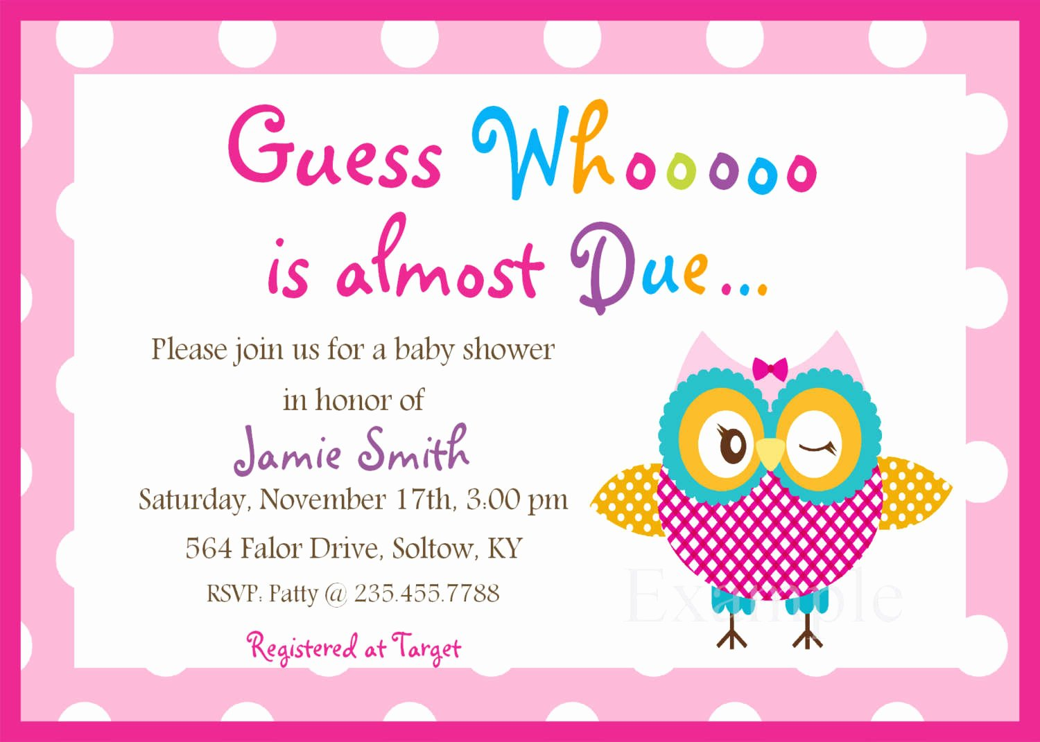 Free Printable Template for Baby Shower Invitations