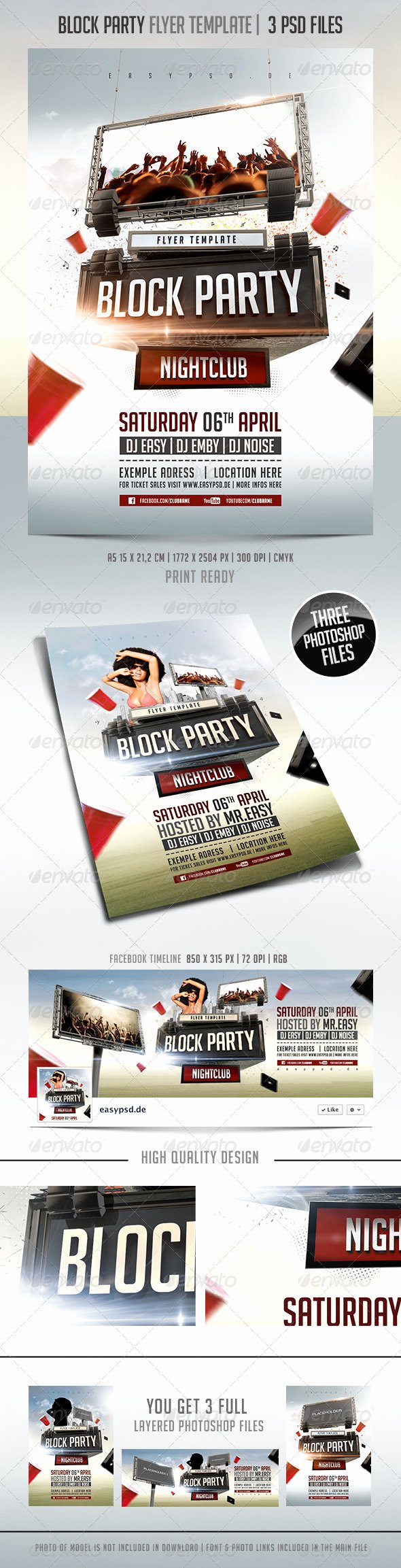 Free Printable Th July Block Party Flyers Chreagle