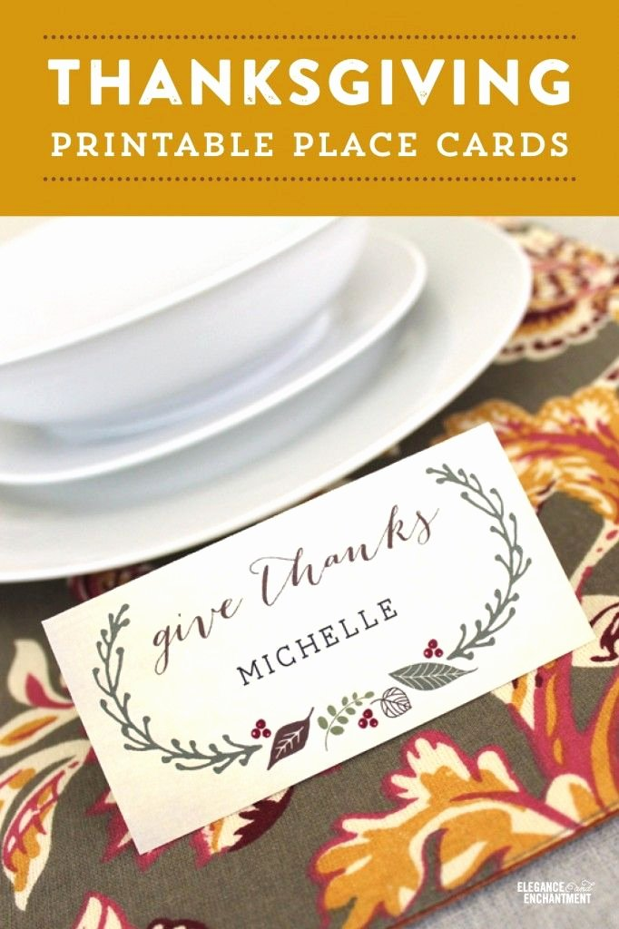 Free Printable Thanksgiving Place Cards with Editable Type