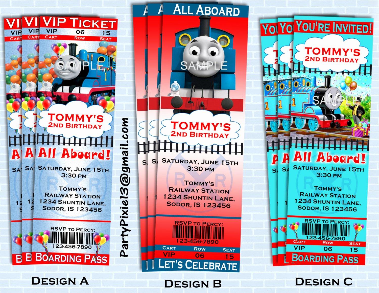 Free Printable Thomas the Train Invitations