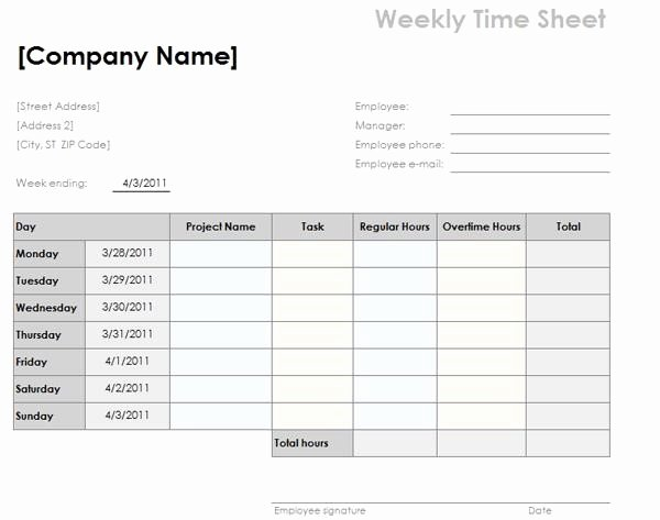 Free Printable Time Card Template 4093 Searchexecutive