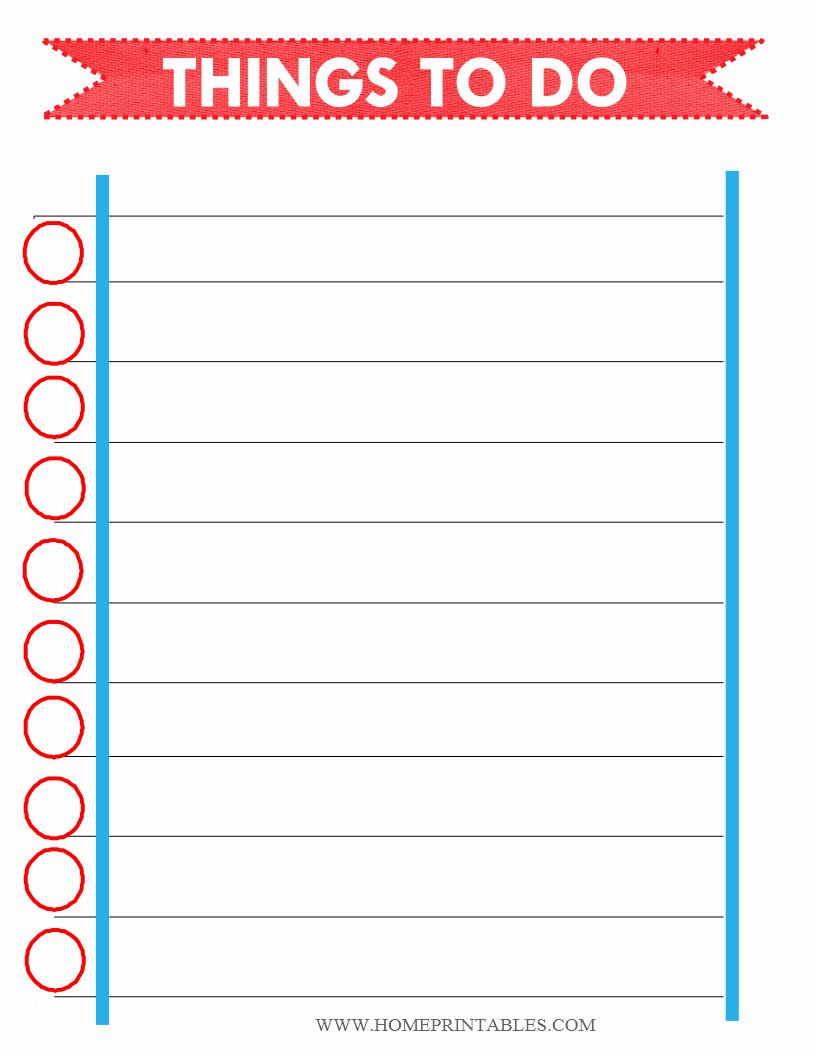Free Printable to Do List Home Printables