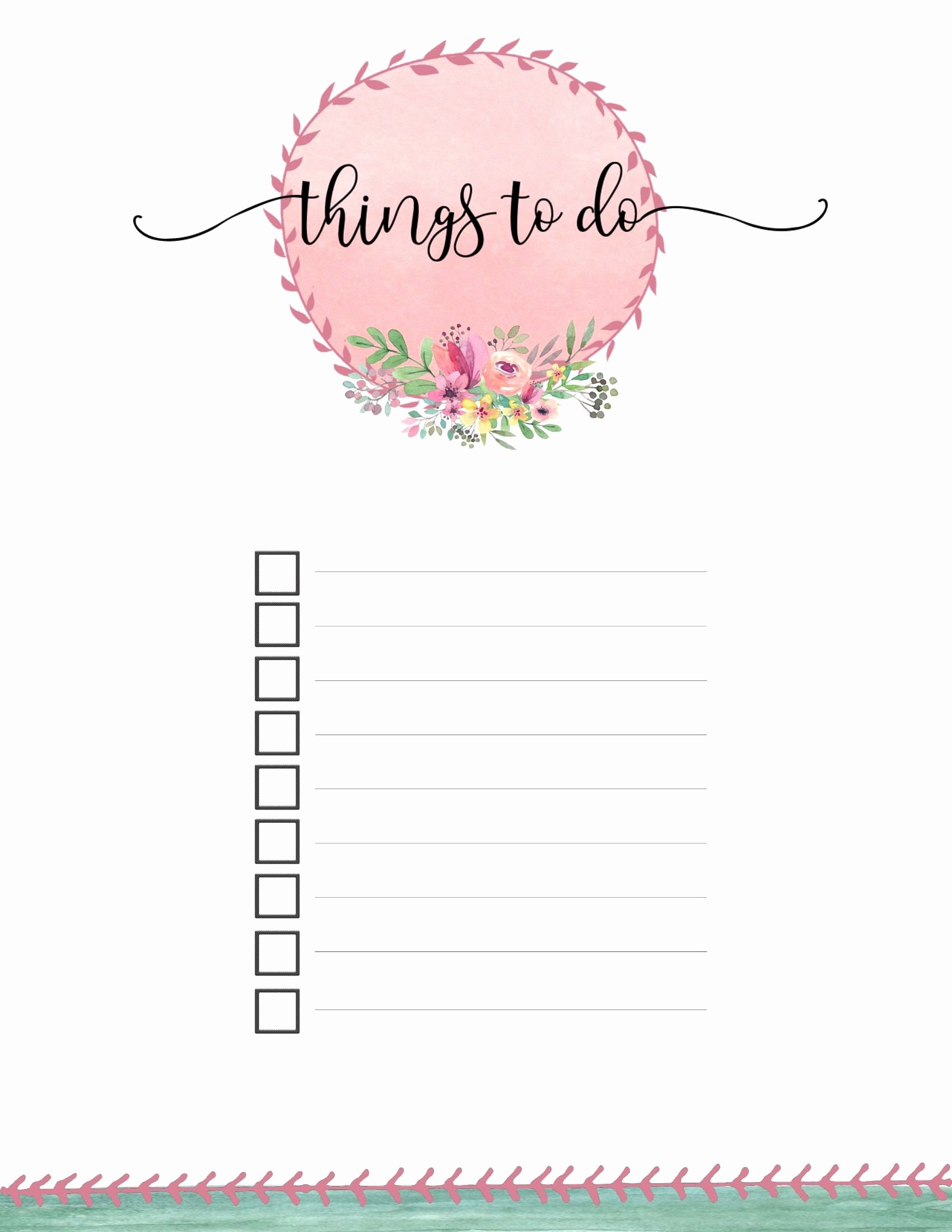 Free Printable to Do List Templates