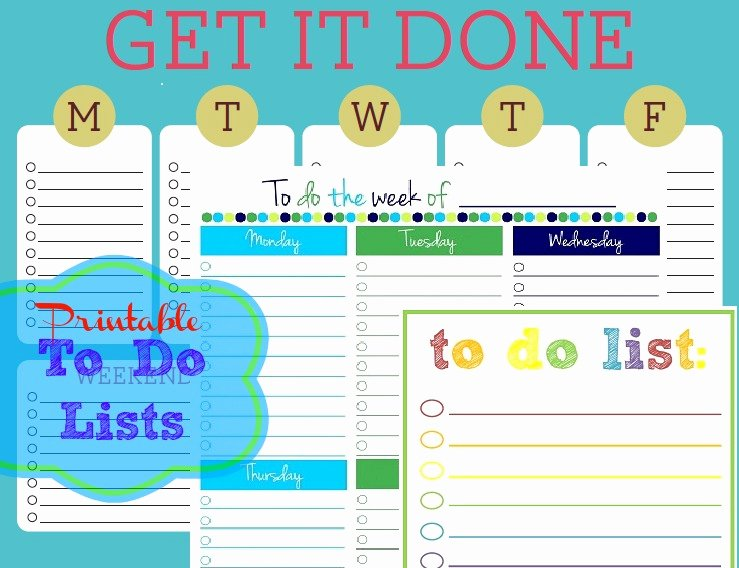 Free Printable to Do Lists – Cute & Colorful Templates