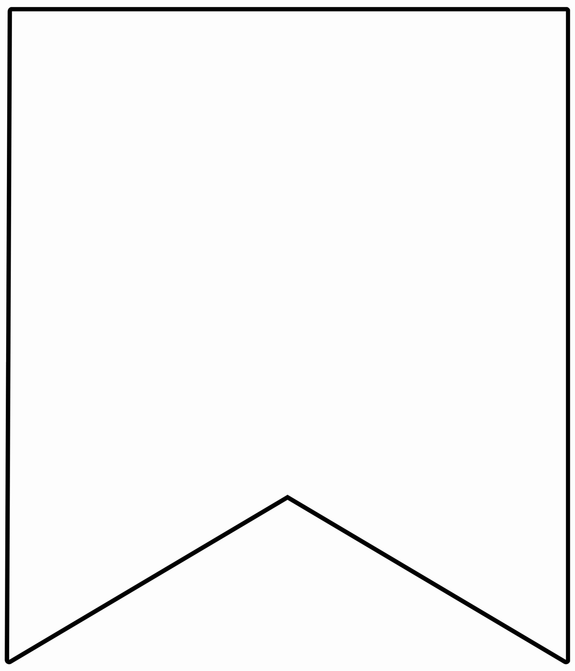 Free Printable Triangle Banner Template Free Printable