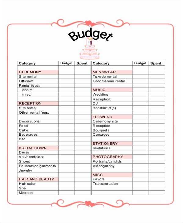 Download Excel Wedding Planner Template Wedding Planning Latter