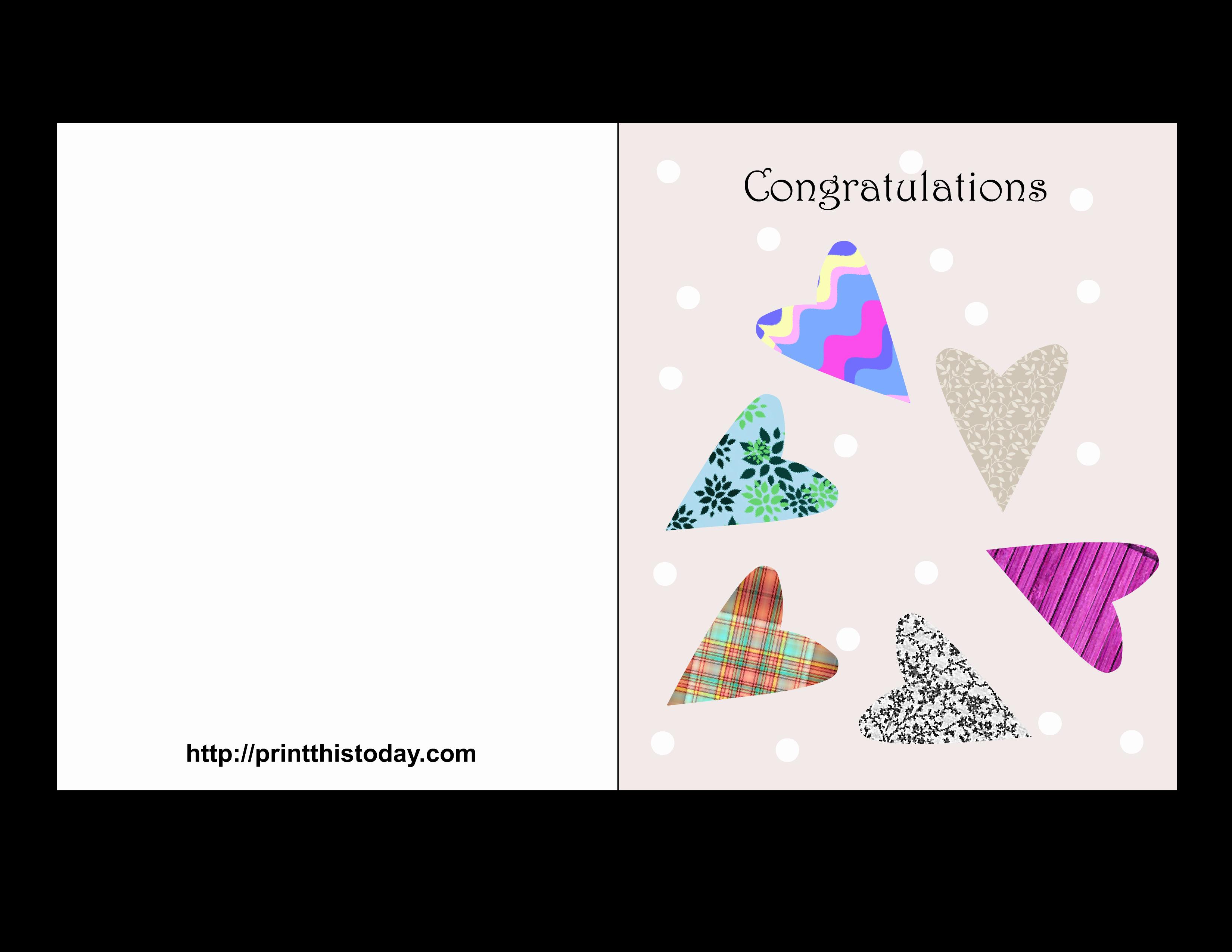 Free Printable Wedding Congratulations Cards