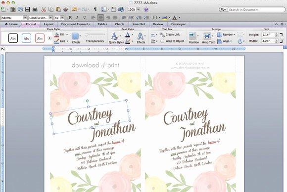 Free Printable Wedding Invitation Templates for Word