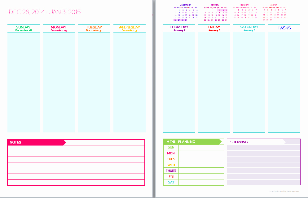 Free Printable Weekly Calendar Pages Calendar Template 2018