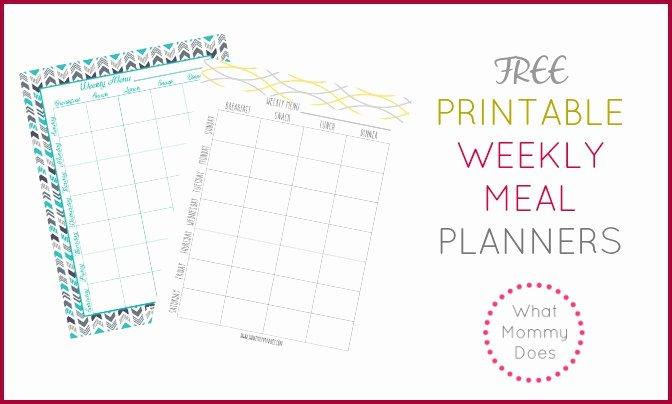 Free Printable Weekly Meal Plan Template Super Cute Menu