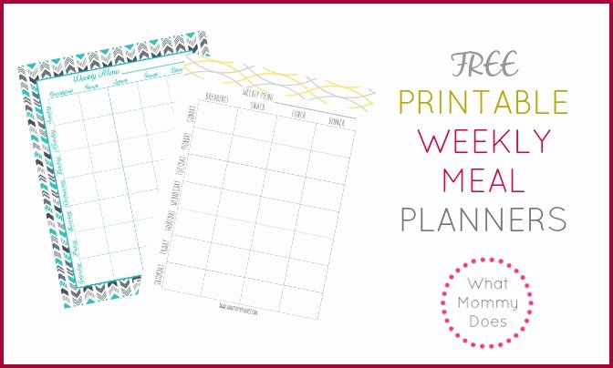Free Printable Weekly Meal Plan Template Super Cute Menu
