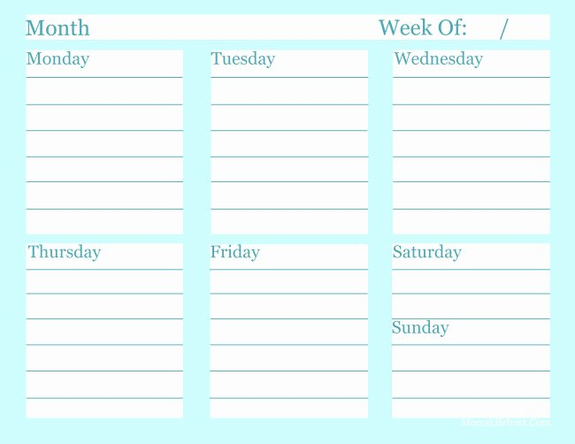 Free Printable Weekly to Do List Template