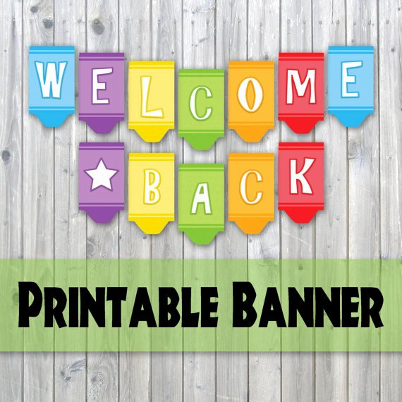 free printable wel e home banner