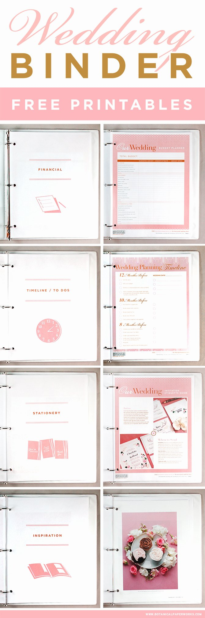 Free Printables Wedding Planning Binder
