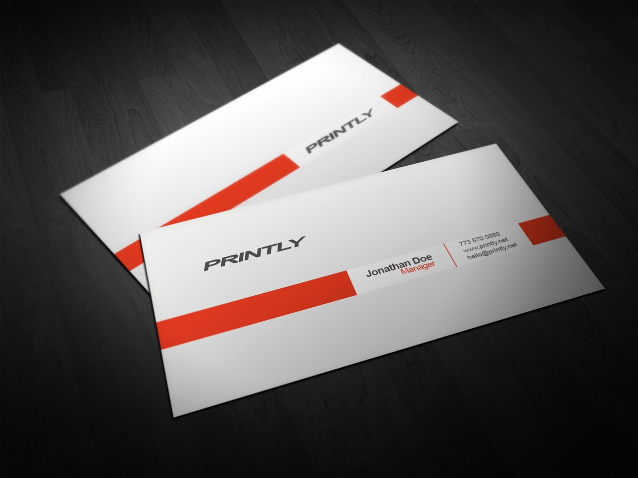 Free Printly Business Card Psd Template by Kjarmo On