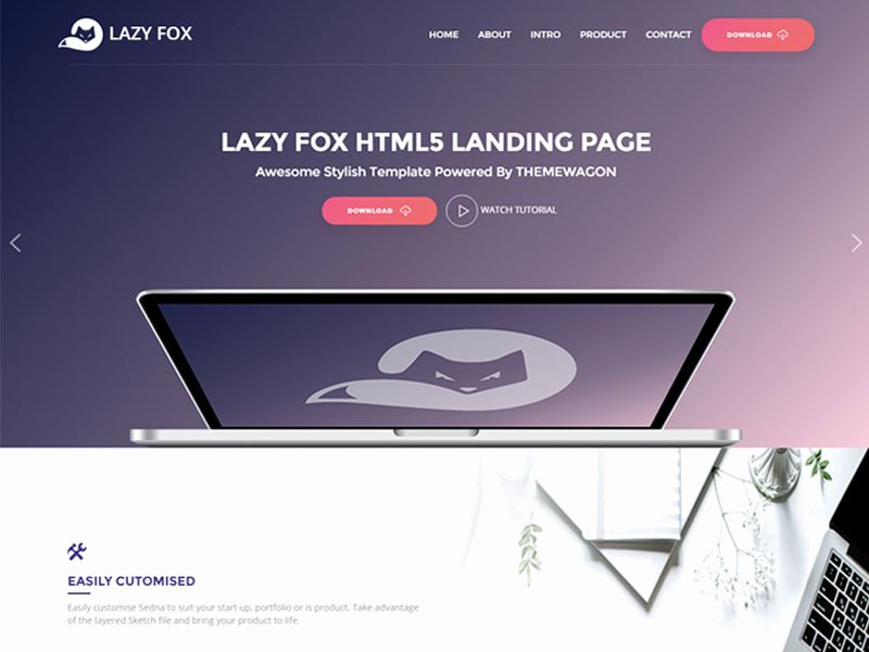 Free Product App Landing HTML5 Bootstrap Template Lazyfox