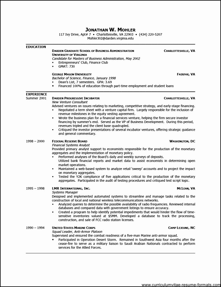 Free Professional Resume Template Downloads Free Samples