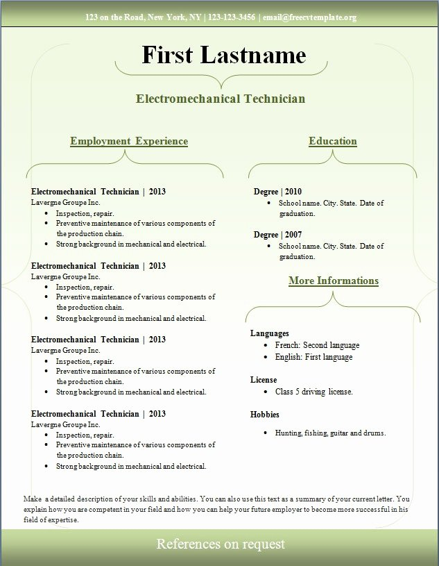 free professional resume template s