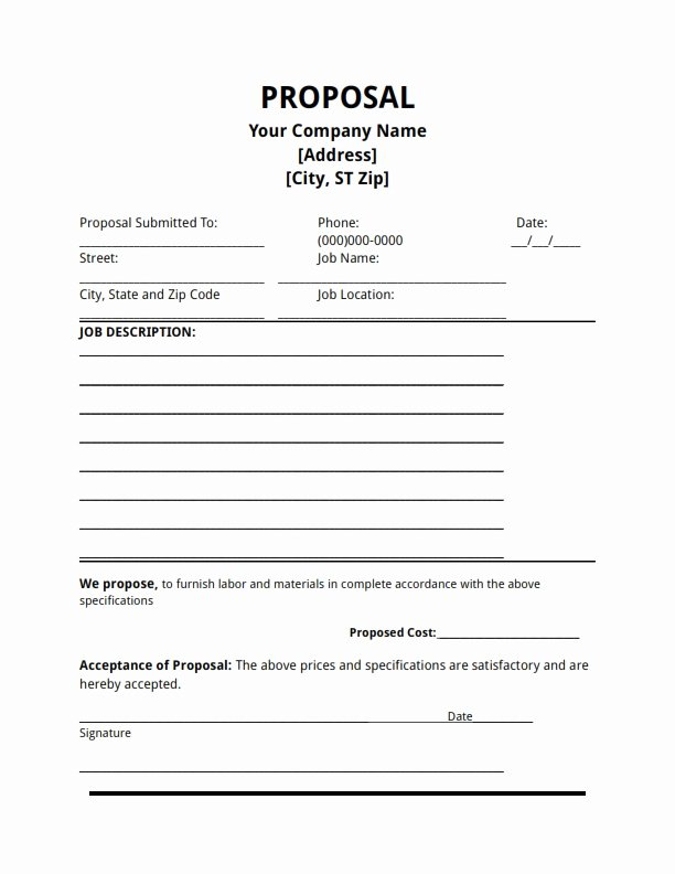 Free Proposal Template
