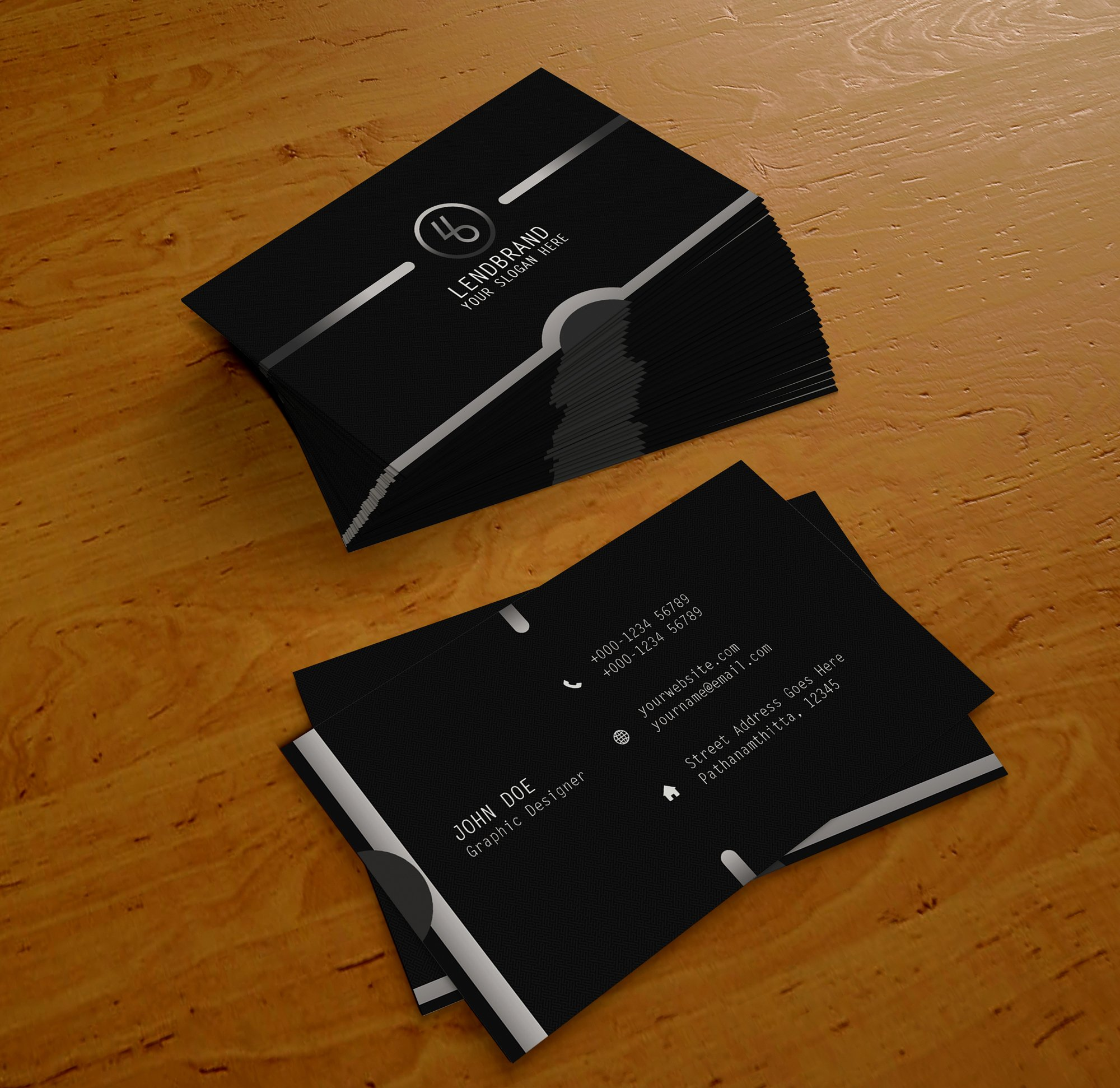 Free Psd Business Card Template Vol 1 – Lendbrand