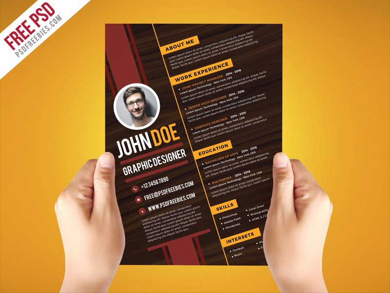 Free Psd Creative Graphic Designer Resume Template Psd